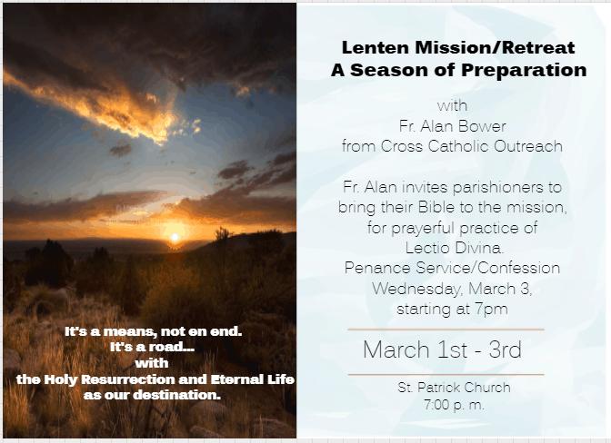 Lenten Mission 2021