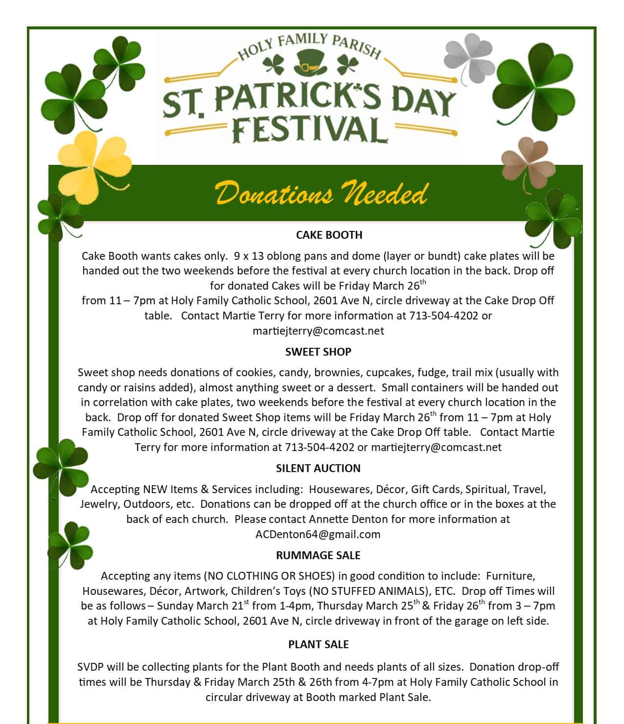 St. Pat Festival Flyer p2